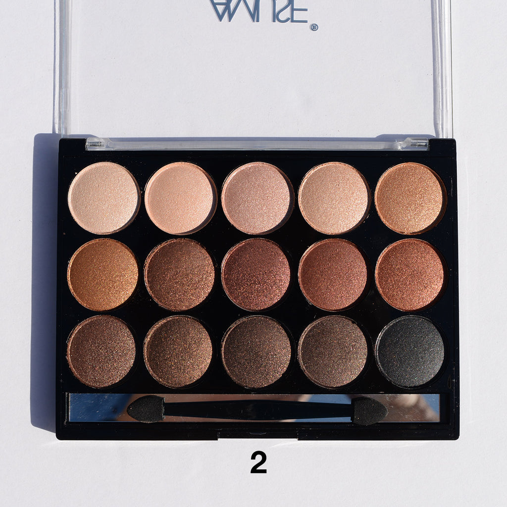 Amuse 15-Color Eyeshadow Palette - Mattes and Shimmers