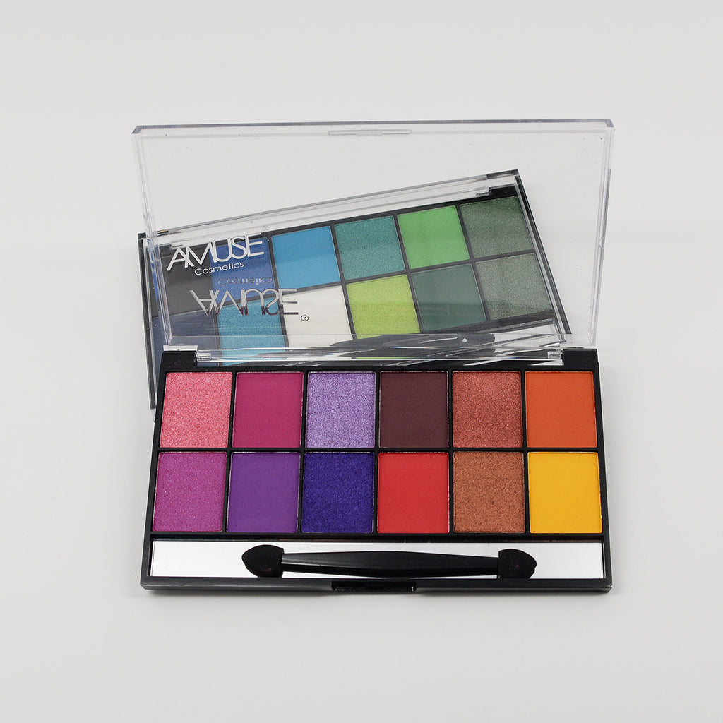 Amuse 12-Color Eyeshadow Palette (FK9620)