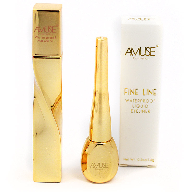 Amuse Waterproof Mascara and Fine Line Liquid Eyeliner Set
