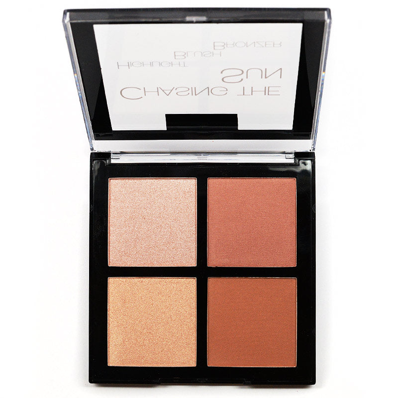 Amuse Chasing The Sun Highlight Blush Bronzer Palette