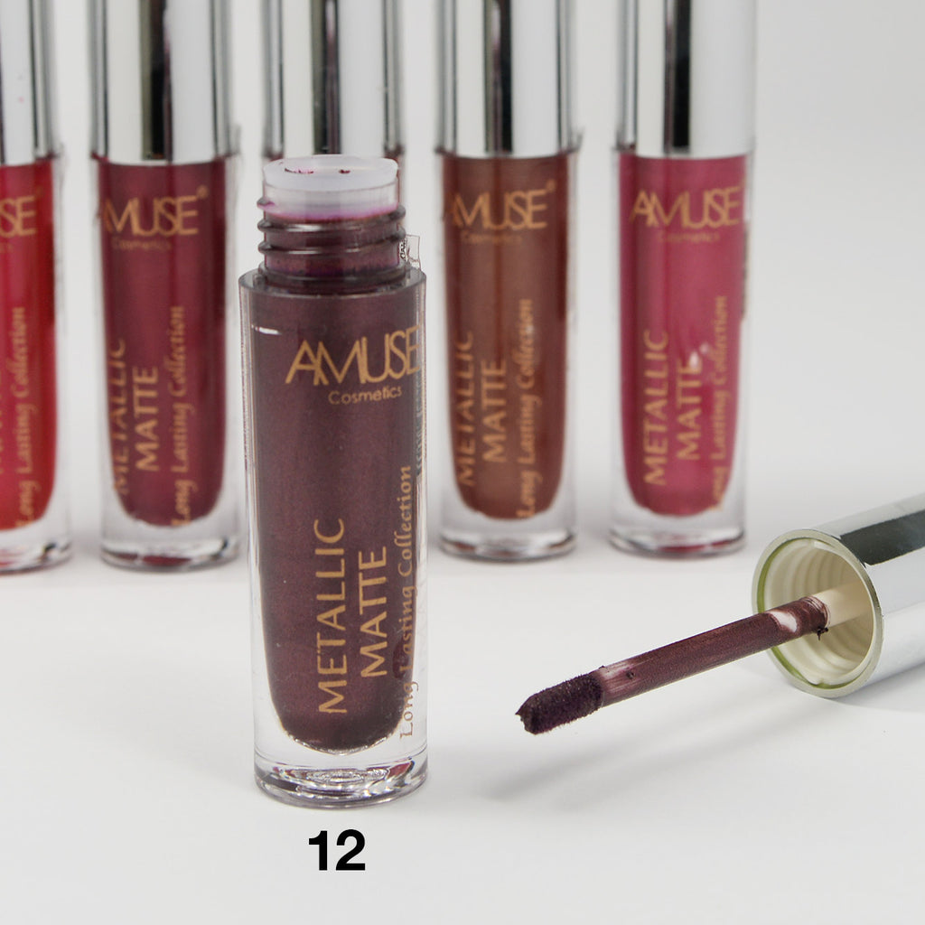 Amuse Metallic Matte Liquid Long Lasting Lipstick (LIP2073)