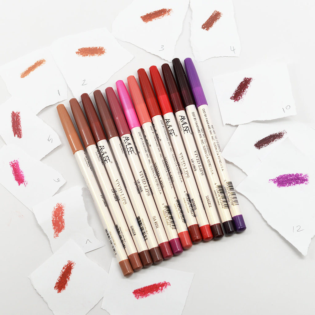 Amuse Vivid Lips Lipliner 12-Color Set
