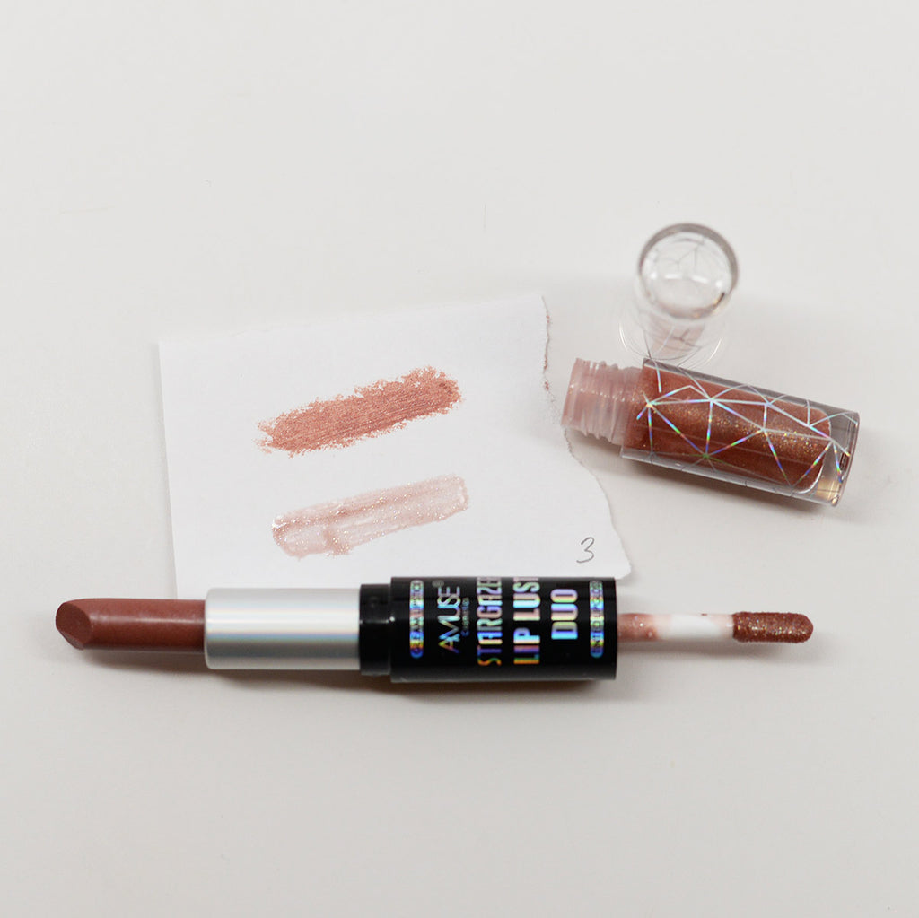Amuse Stargazer Lip Lust Duo Lipstick & Lip Gloss (Diana)
