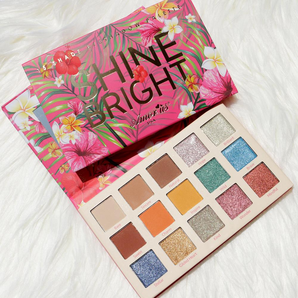 Amor Us Shine Bright 15-color Eyeshadow Palette