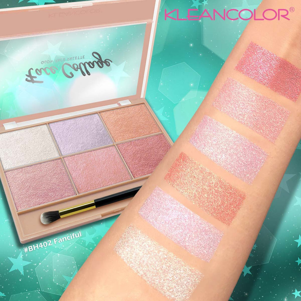 Kleancolor Face Collage Glow Face Palette - Fanciful (BH402)