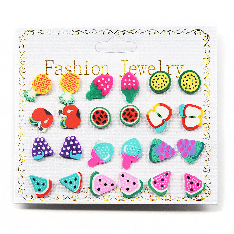 12-Pair Fruity Earring Set (2576)