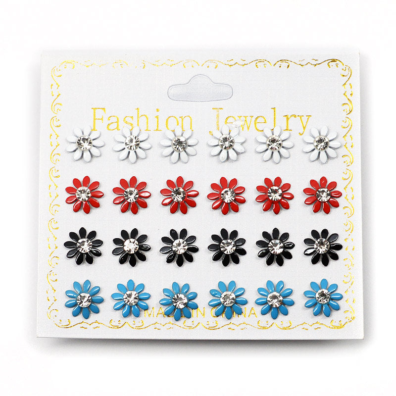 12-Pair Daisy Earrings (2575)