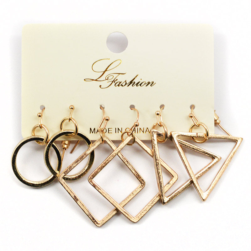 Le Fashion 3-Pair Earring Set (2578)