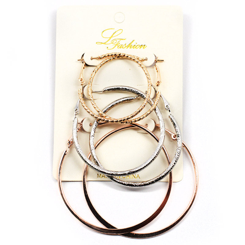 3-Pair Hoops Set (ER2525)