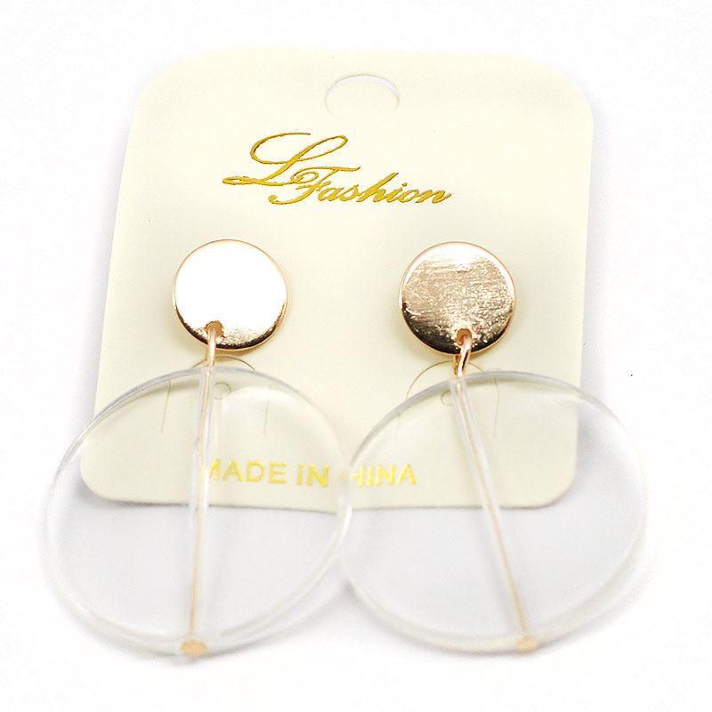 Earrings Clear Discs (2510)