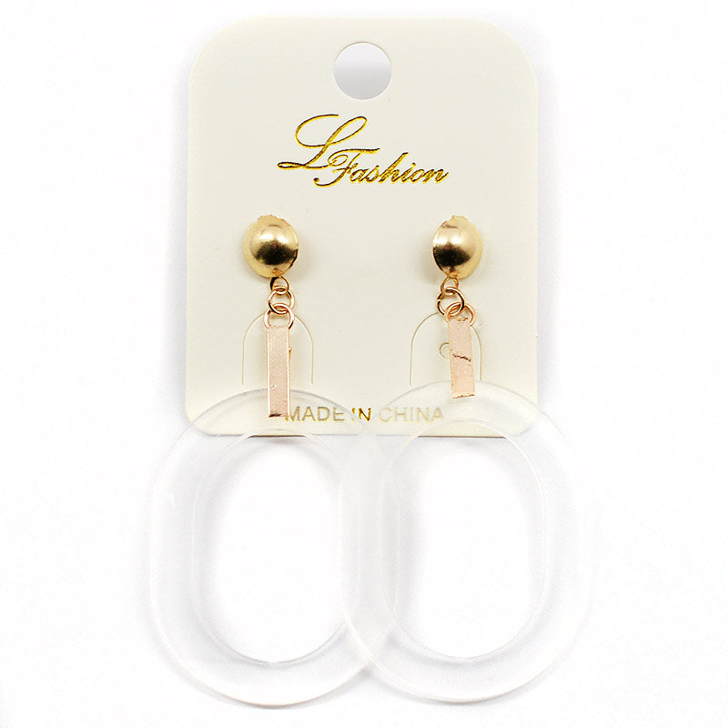 Clear Hoops Earrings (2535)