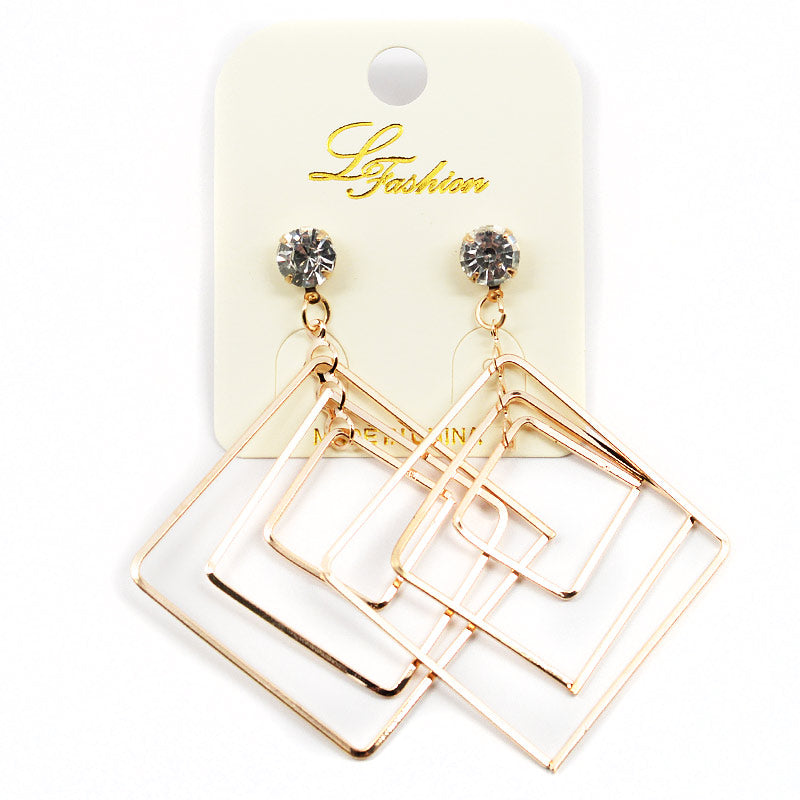 Dangling Squares Earrings