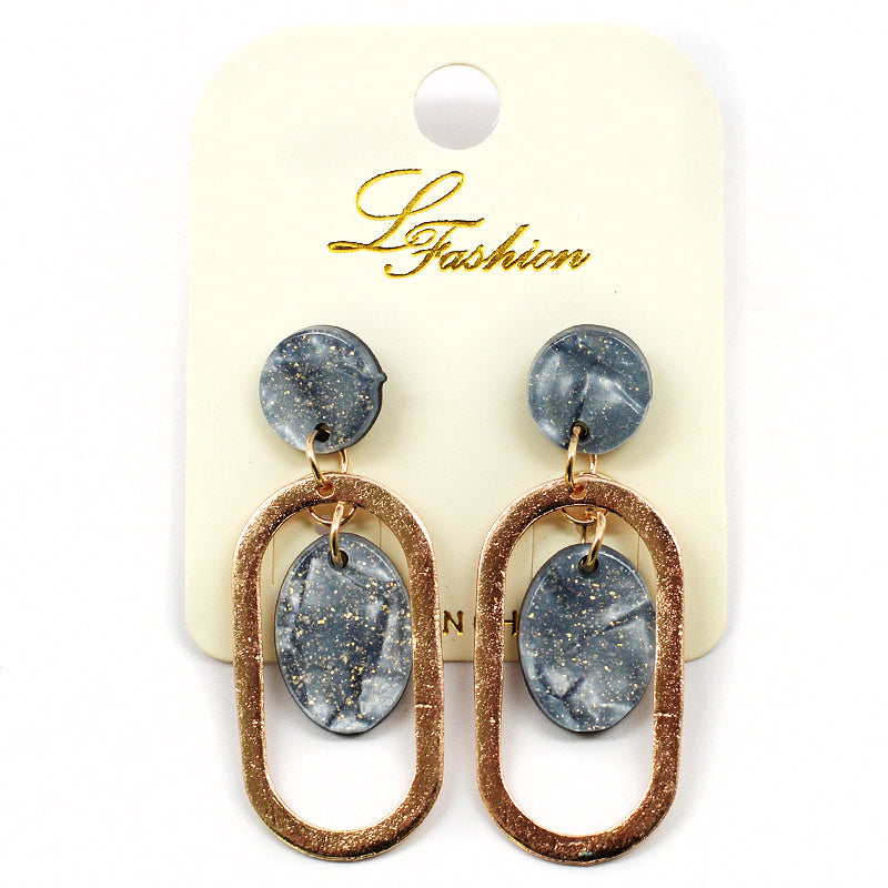 Stone And Copper Look Earrings (ER2551)