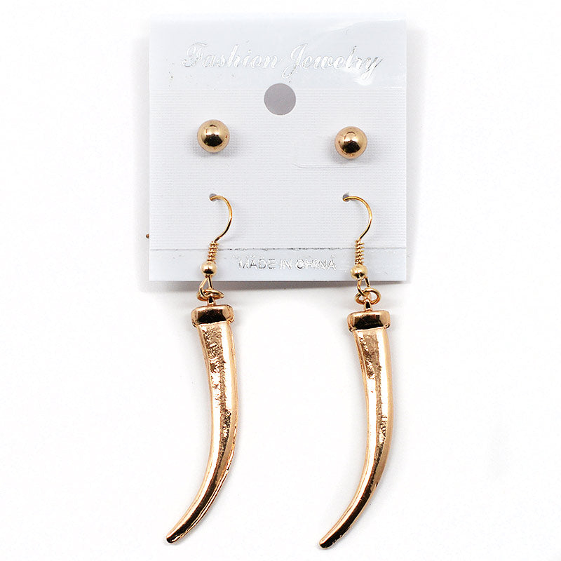 Tusk-Shaped Earrings