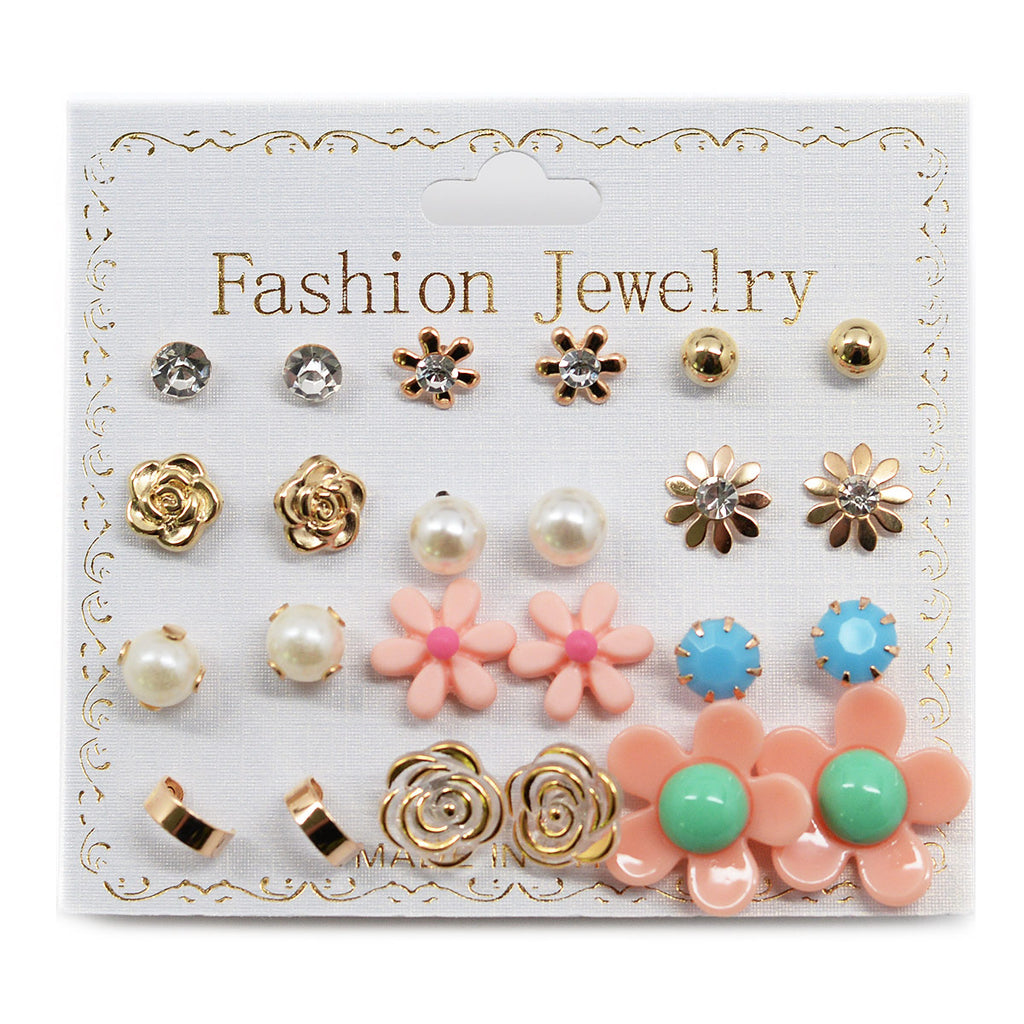 12-Pair Stud Earrings (2581)