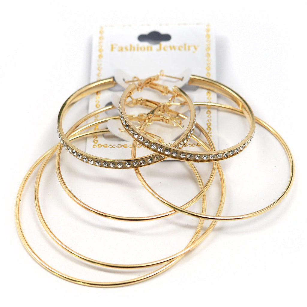 3-Pair Hoop Earrings (2583)