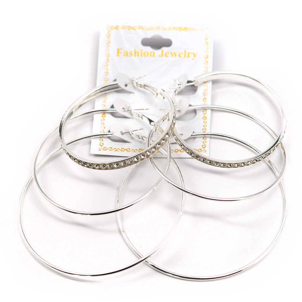 3-Pair Hoop Earrings (2584)