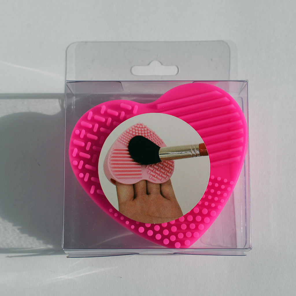 Makeup Silicon Brush Cleaning Pad - Heart
