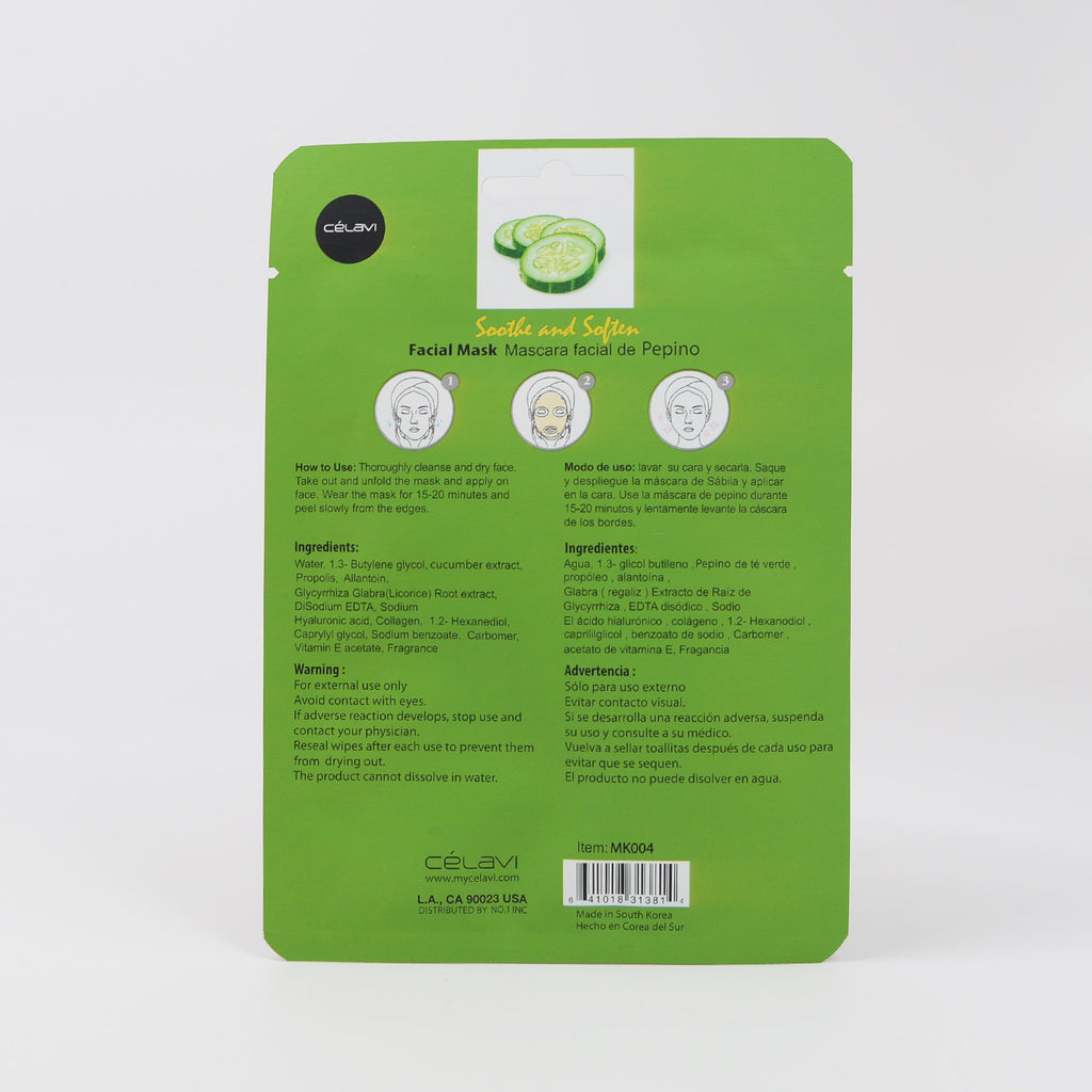 Celavi Facial Sheet Mask - Cucumber