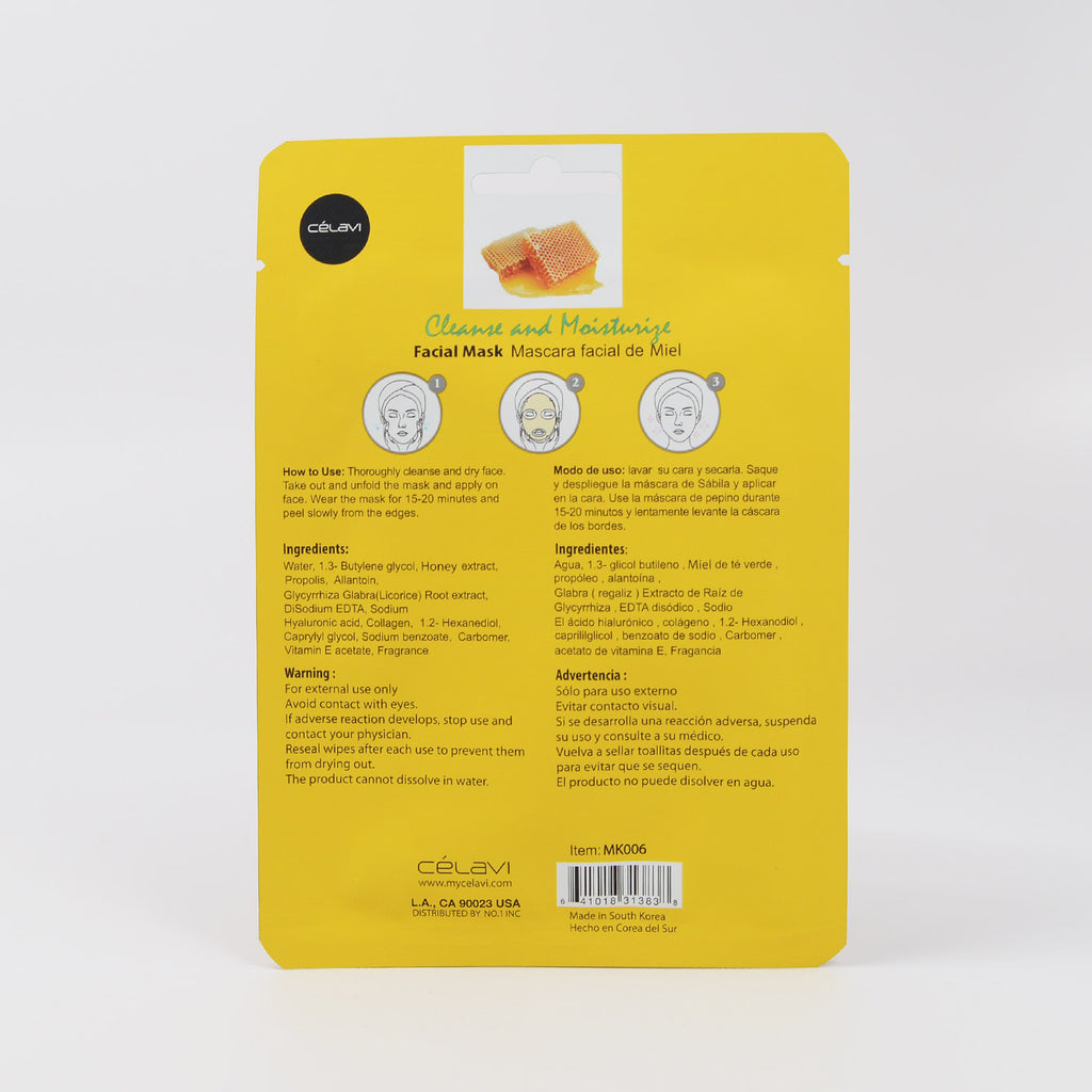 Celavi Facial Sheet Mask - Honey