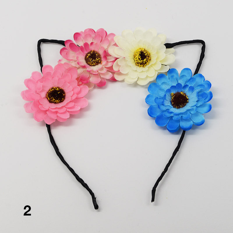 Flower Cat Ear Headbands
