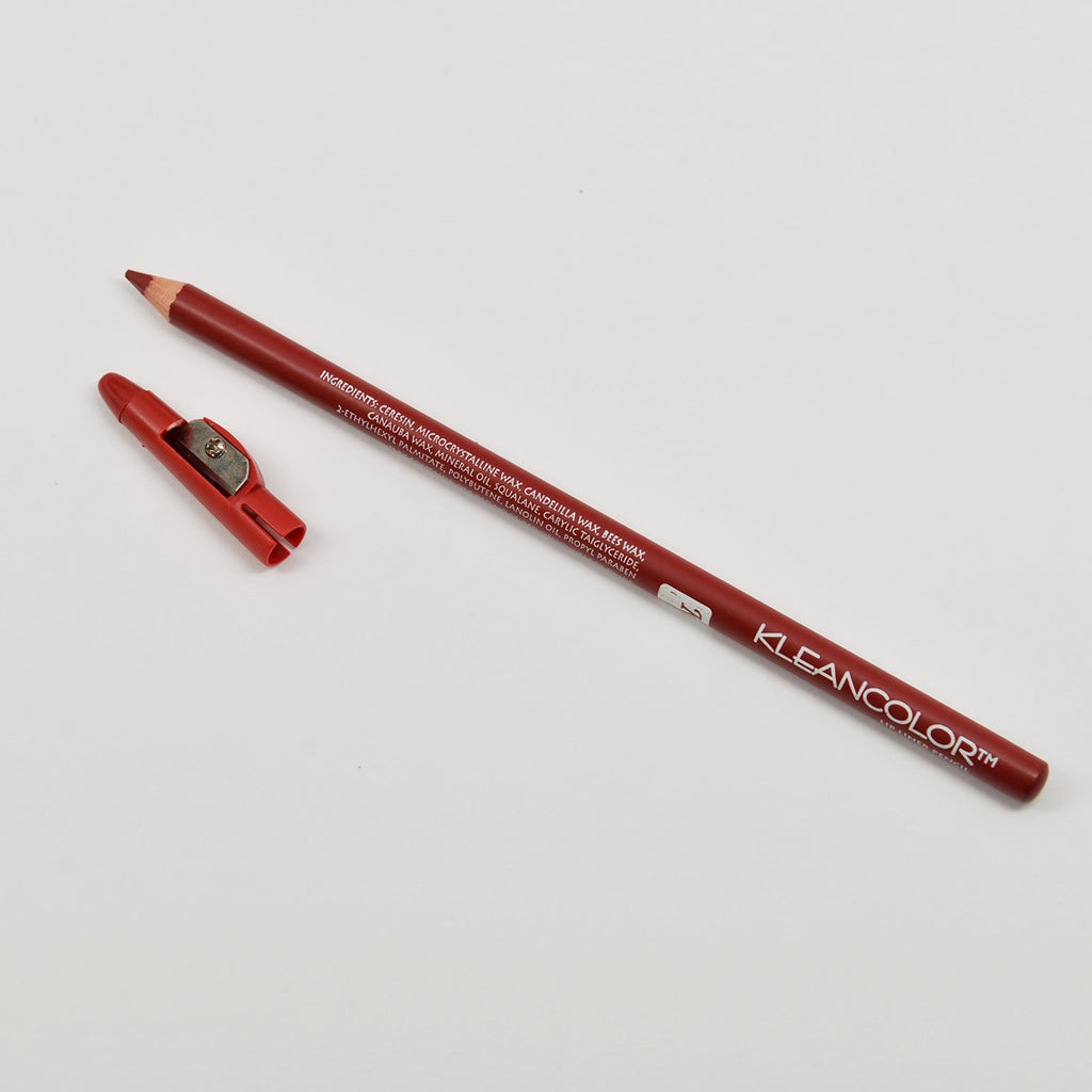 Kleancolor Lipliner Long Pencil with Sharpener - 62 Hot Red