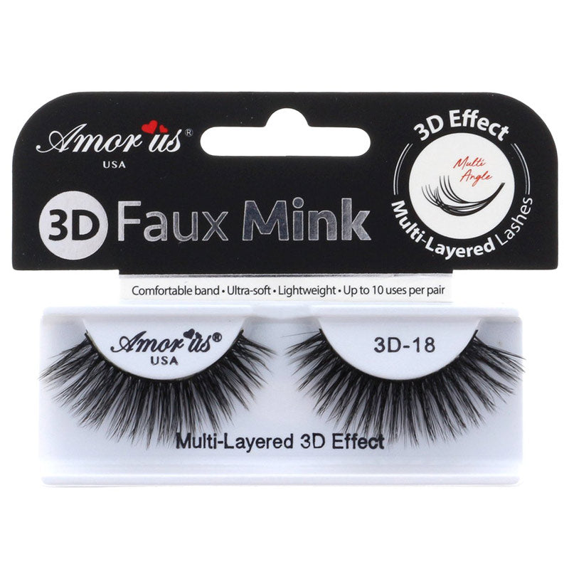Amor Us 3D Faux Mink Lashes - #18