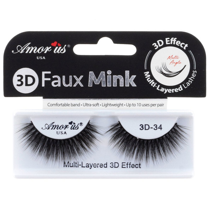 Amor Us 3D Faux Mink Lashes - #34