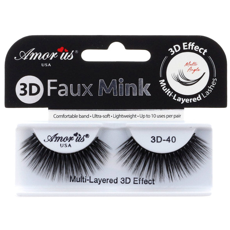 Amor Us 3D Faux Mink Lashes - #40