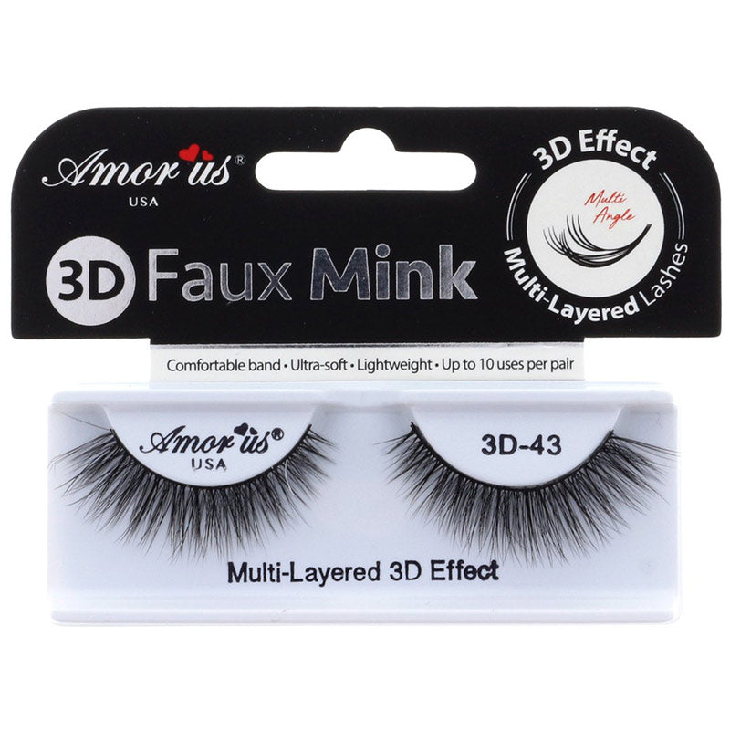 Amor Us 3D Faux Mink Lashes - #43