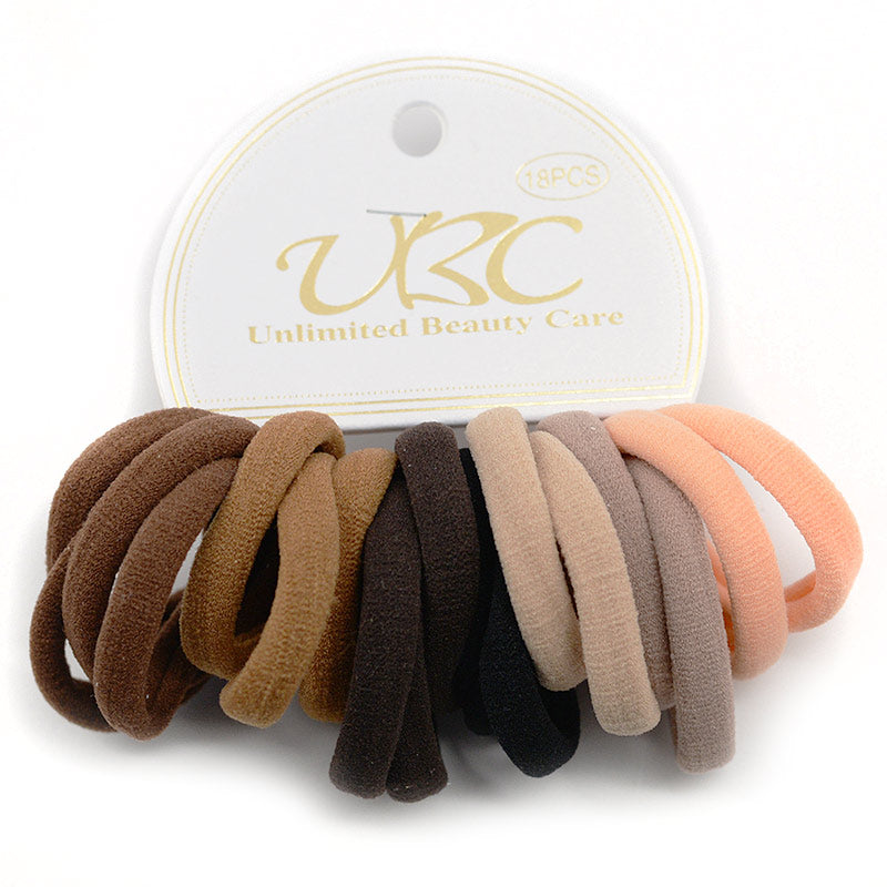 Cotton Hair Ties - Natural Colors (18 Pcs)