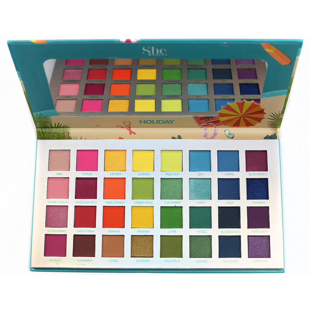 "S.he Makeup ""Holiday"" 32-Color Eyeshadow Palette (SP06)"