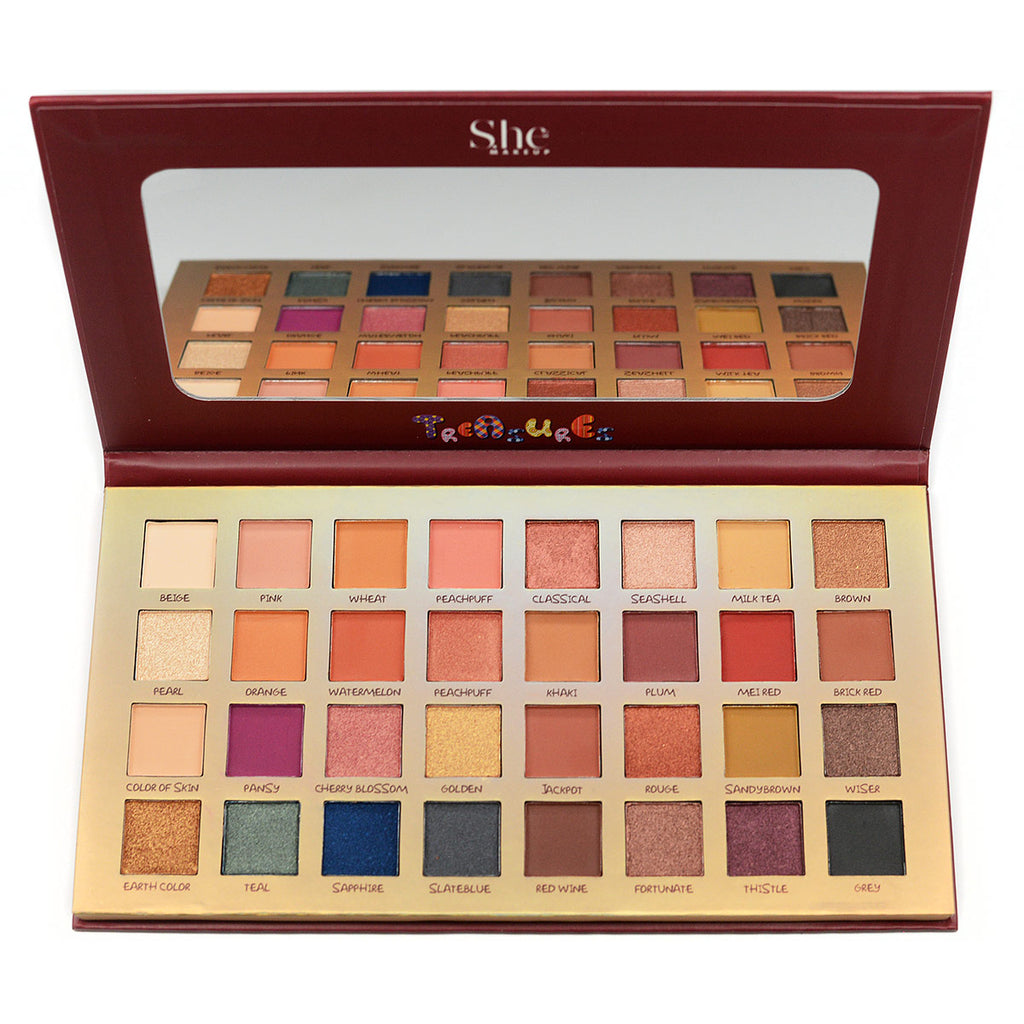 "S.he Makeup ""Treasures"" 32-Color Eyeshadow Palette (SP04)"
