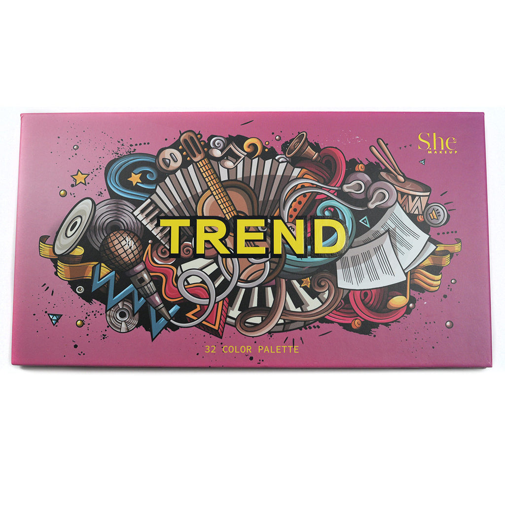 "S.he Makeup ""Trend"" 32-Color Eyeshadow Palette (SP05)"