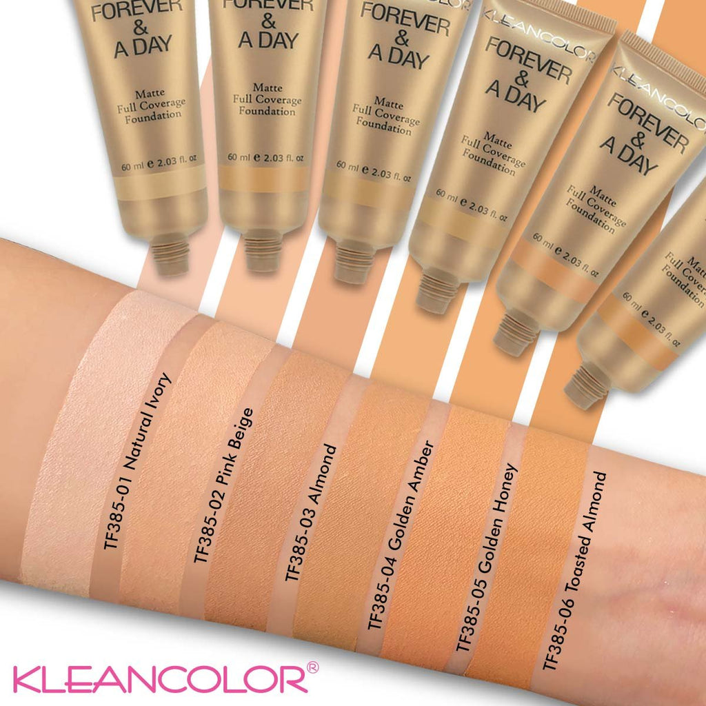Kleancolor Forever & A Day Matte Full Coverage Foundation (12 Shades)