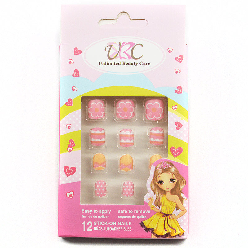 KIDS Stick-On Nails - Peach Colors