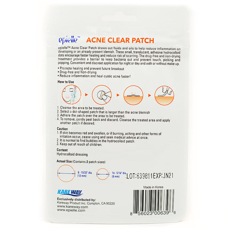 Epielle Acne Clear Patch (12 Pack)