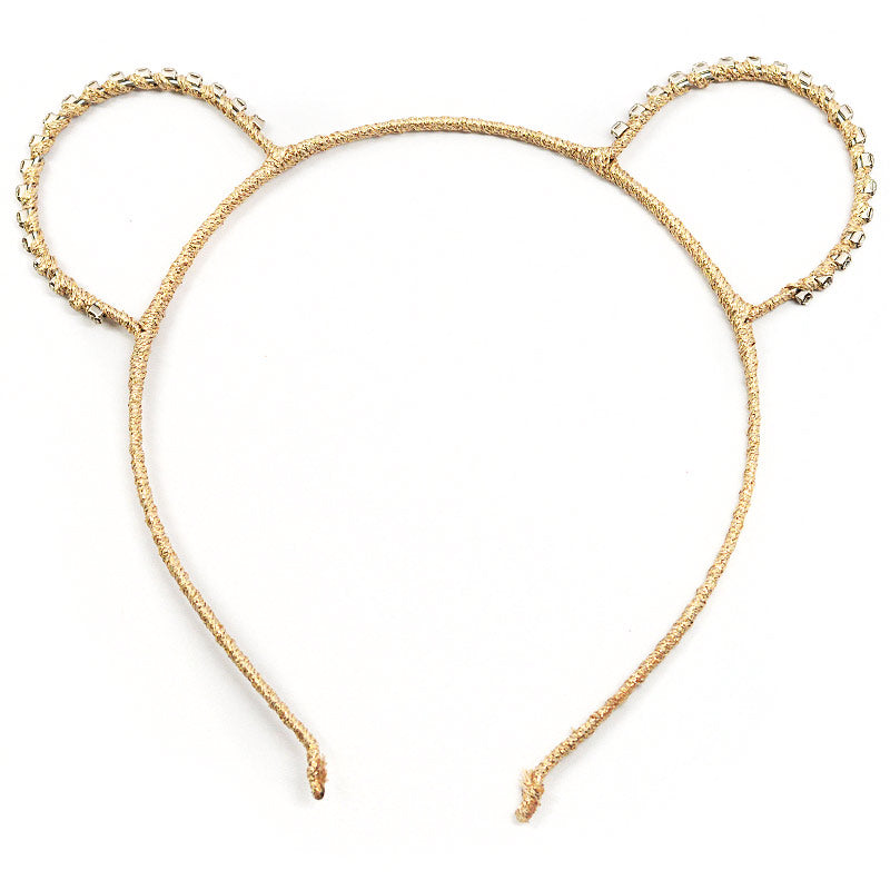 Rhinestone Bear Ears Headband (1023)