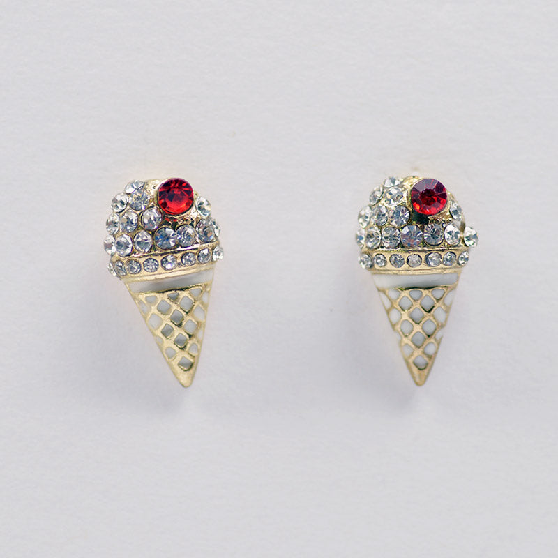 Ice Cream Cone Earrings (#2503)