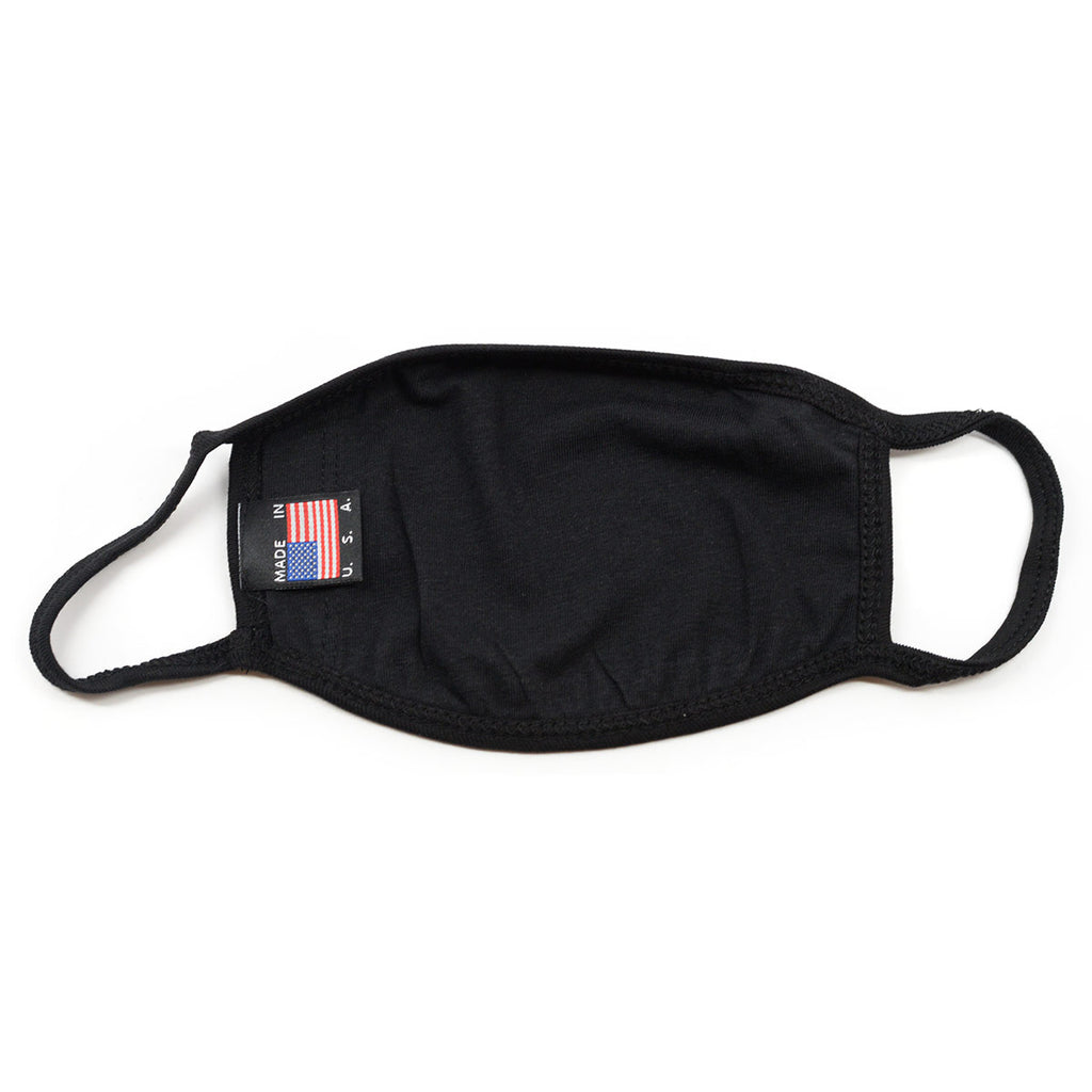 Cotton Face Mask Made In USA - Black