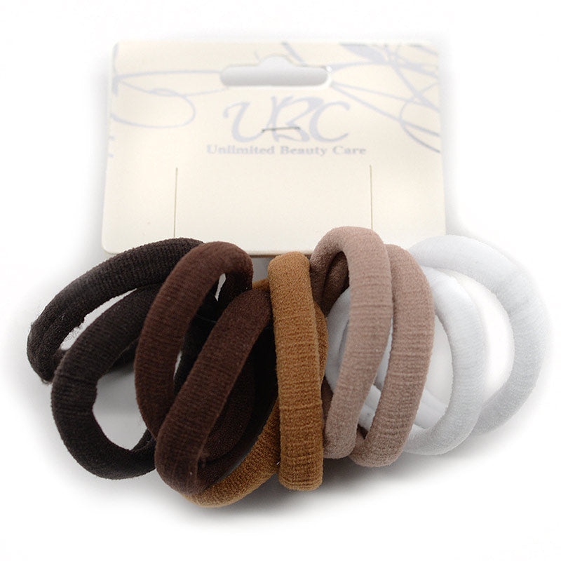 Soft Cotton Hair Ties - Natural Colors (10 Pcs)