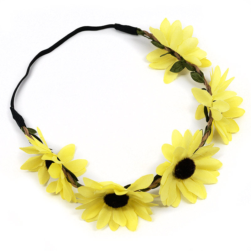 Yellow Daisies On Vine Headband