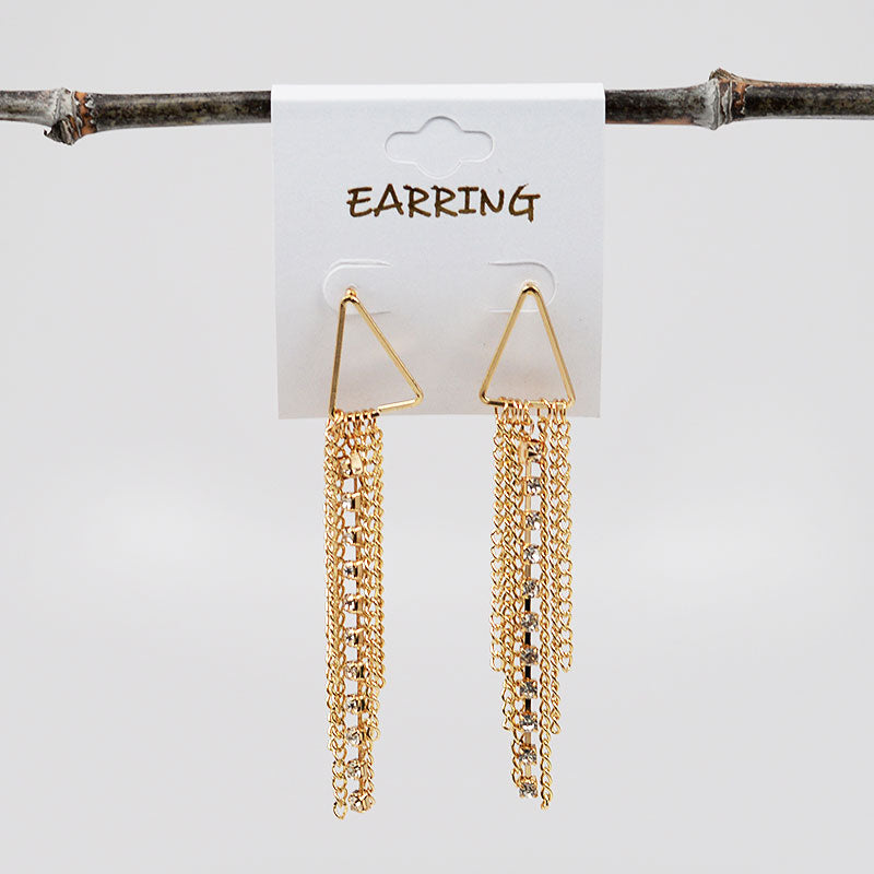 Chain Tassel Earrings (#2521)