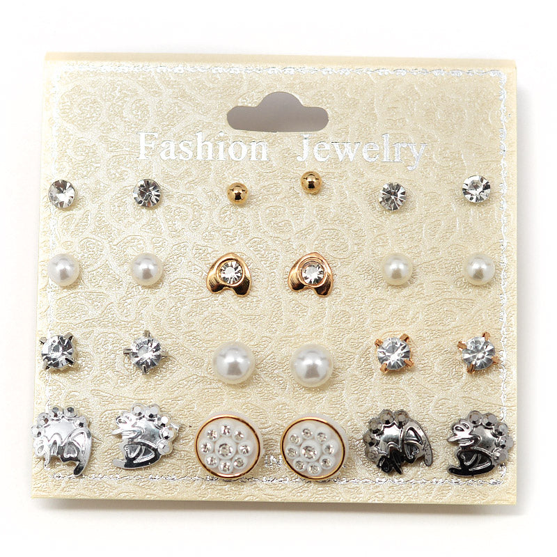 12-Pair Earring Set (#2531) - Love