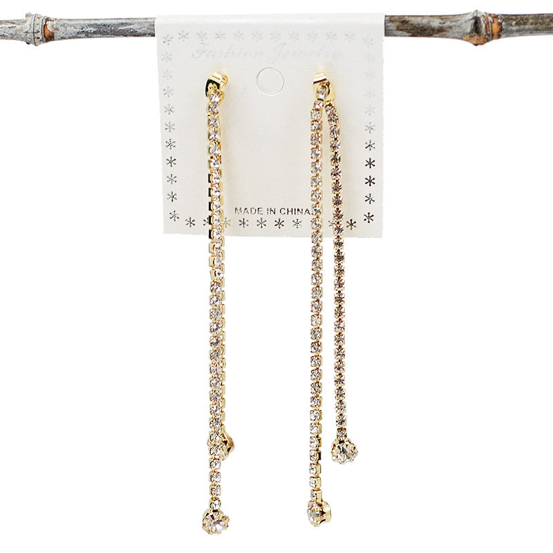 Dangling Rhinestone Earrings (#2539)