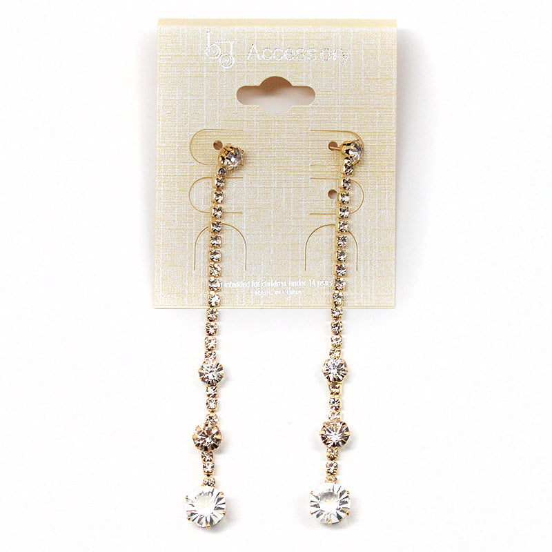 Dangling Rhinestone Earrings (#2540)