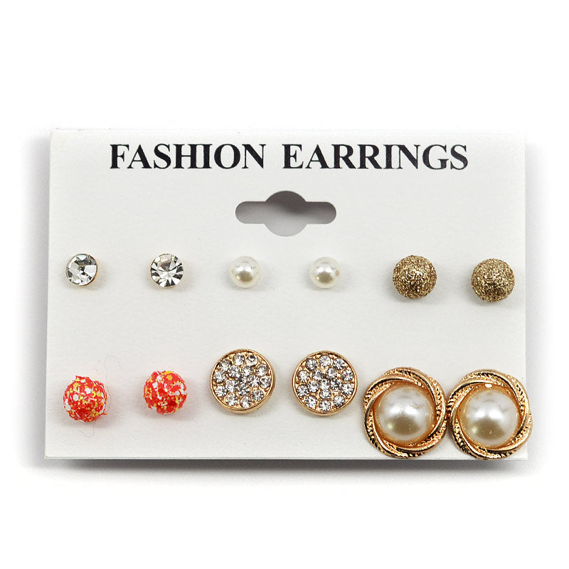 Fashion Earrings 6-Pair Assortment (#2556)