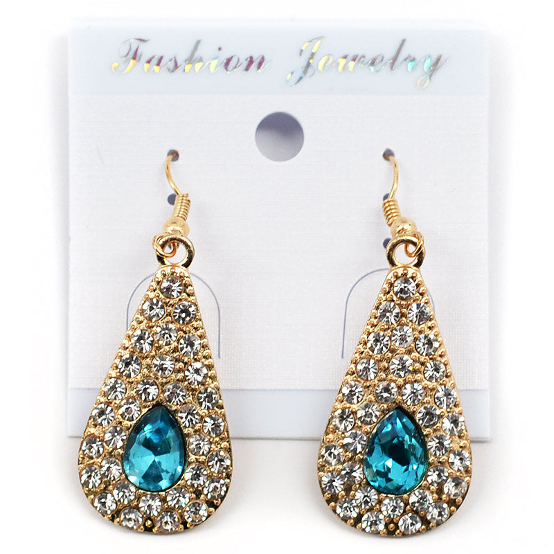 Teardrop Rhinestone Earrings (#2560)
