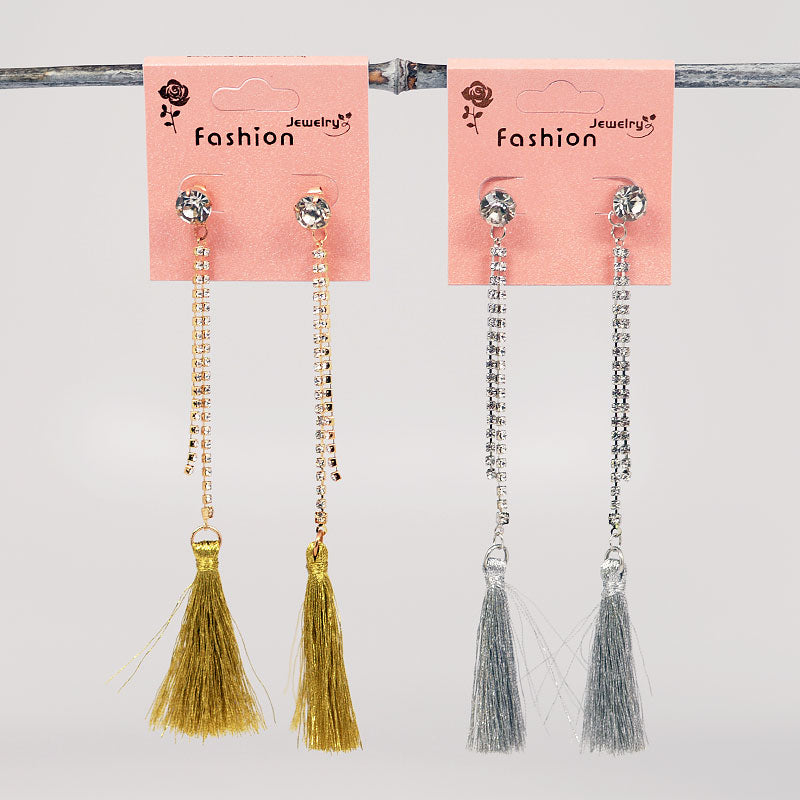 Tassel Rhinestone Earrings