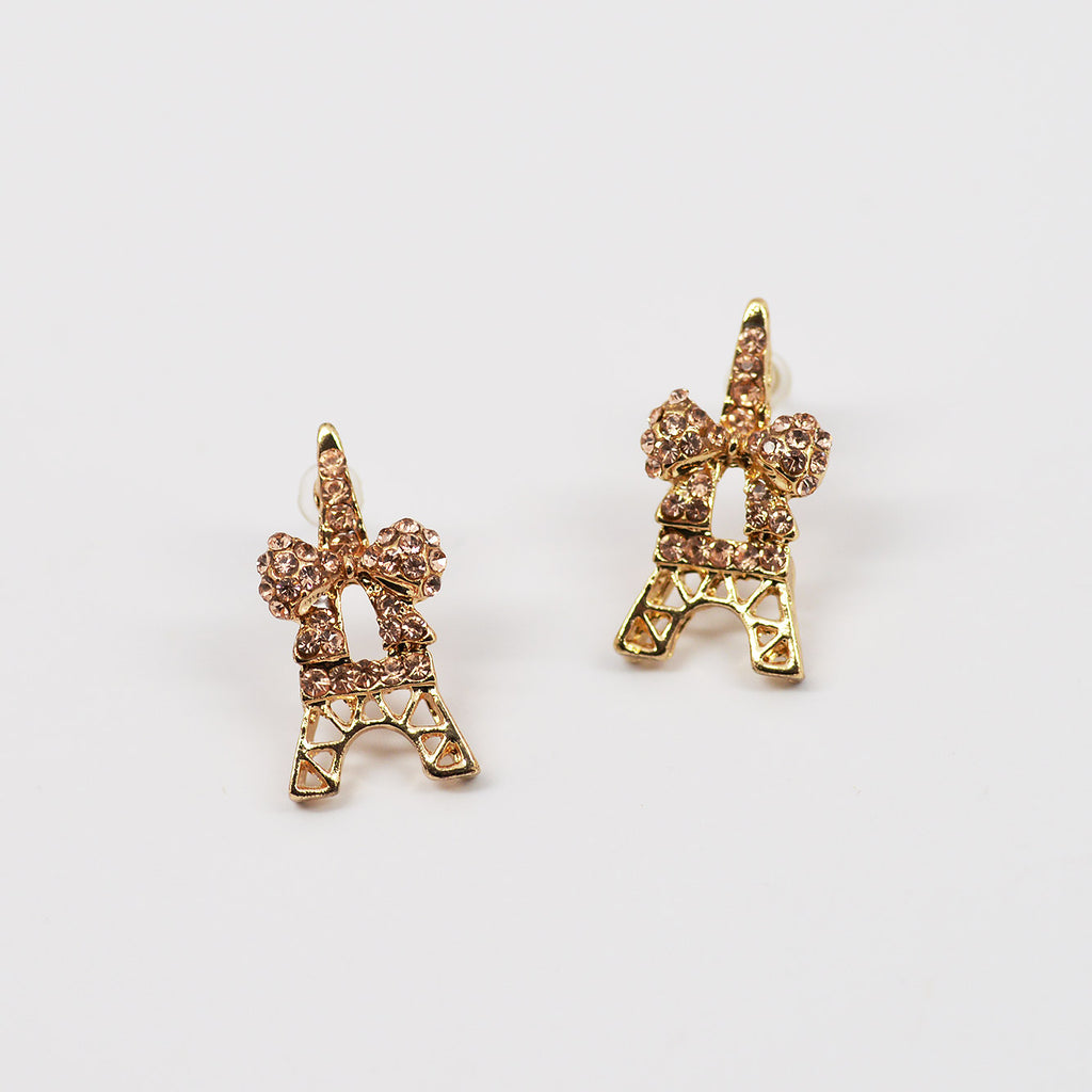 Eiffel Tower and Bow Earrings (#2508)